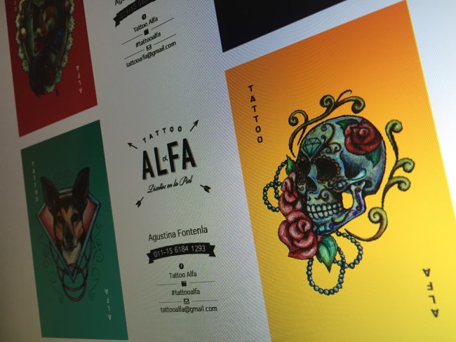 Tattoo Alfa Business Cards